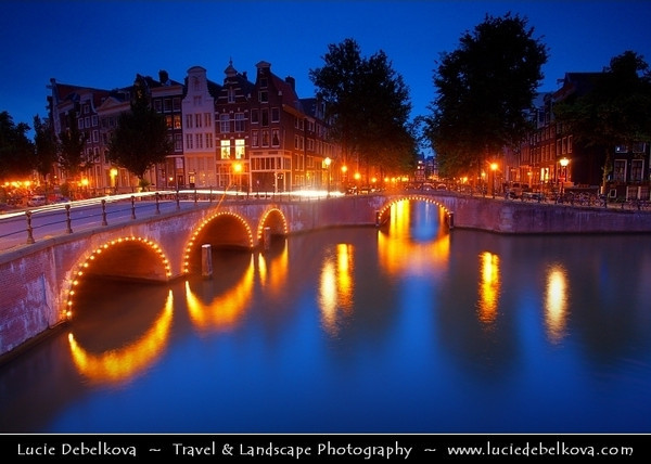 Netherlands - Amsterdam - Capital and largest city of the Netherlands - The 17th-century canals of Amsterdam - Grachtengordel - UNESCO World Heritage <br /> <br /> Camera Model: Canon EOS 5D Mark II; Lens: EF17-40mm f/4L USM; Focal length: 20.00 mm; Aperture: 9.0; Exposure time: 30.0 s; ISO: 250