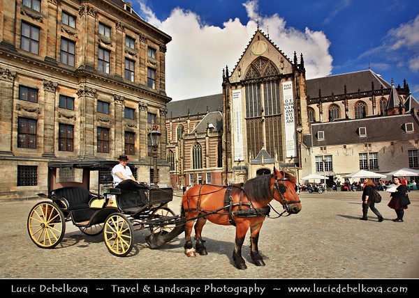 Europe - Netherlands - Nederland - North Holland - Noord Holland Province - Amsterdam - Capital and largest city of the Netherlands - Venice of the North - UNESCO World Heritage - Dam Square - Royal Palace of Amsterdam - Koninklijk Paleis Amsterdam - Paleis op de Dam