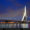 Europe - Netherlands - Nederland - South Holland - Zuid-Holland Province - Rotterdam - Second-largest city in Netherlands & one of the largest ports in the world situated on the North Sea in the western part of country - Erasmusbrug - Erasmus Bridge - One of the icons of Rotterdam & one of Holland's most famous bridges
