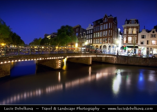 Netherlands - Amsterdam - Capital and largest city of the Netherlands - The 17th-century canals of Amsterdam - Grachtengordel - UNESCO World Heritage <br /> <br /> Camera Model: Canon EOS 5D Mark II; Lens: EF17-40mm f/4L USM; Focal length: 19.00 mm; Aperture: 10; Exposure time: 30.0 s; ISO: 200