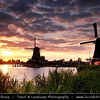 Netherlands - Zaandam - Zaanse Schans - Open air museum - Dutch village with wooden houses & windmills dating from the 17th and 18th centuries <br /> <br /> Camera Model: Canon EOS 5D Mark II; Lens: 28.00 - 300.00 mm; Focal length: 42.00 mm; Aperture: 5.6; Exposure time: 1/100 s; ISO: 320