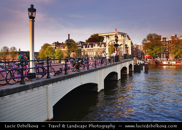 Europe - Netherlands - Nederland - North Holland - Noord Holland Province - Amsterdam - Capital and largest city of the Netherlands - Venice of the North - UNESCO World Heritage - Beautiful old houses along canal in central Grachtengordel district with the 17th century historical atmosphere