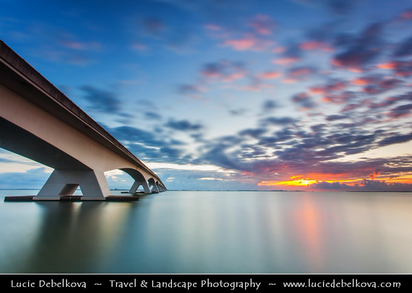 Europe - Netherlands - Nederland - Zeeland Province - Sea-land - Zealand - Zeeland Bridge - Zeelandbrug - Longest bridge in the Netherlands