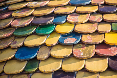 Unique tile roof of the Tourre Belanda