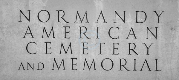 Marble  plaque at the entrance of Normandy American Cemetery and Memorial<br /> <br /> ~ Image by Martin McKenzie All Rights Reserved ~