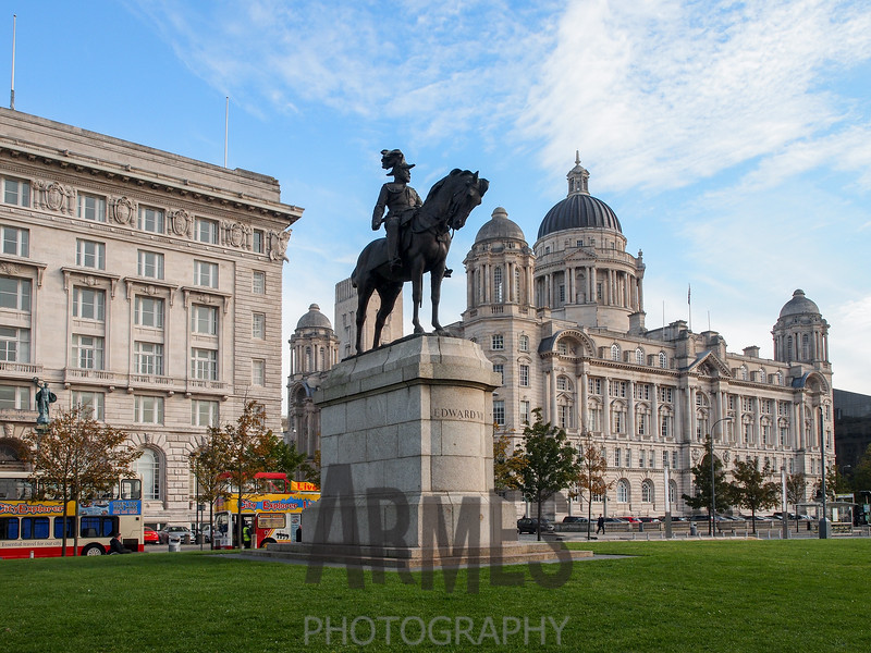 The Cunard Building and the Mersey Docks and Harbour Building.