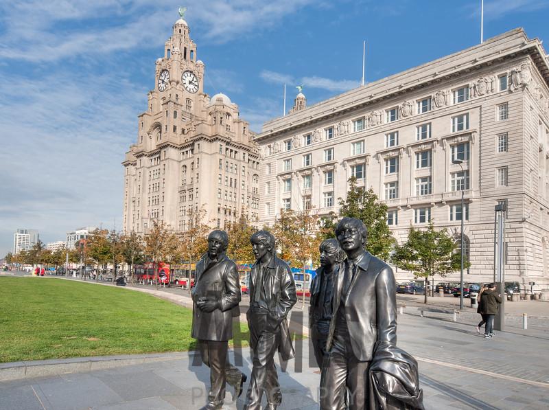 The Beatles immortalised on Liverpool's Pier Head