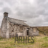 Abandoned Gayle Beck shooting lodge on the roadside of the B6255 from Hawes to Ingleton
