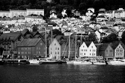 Bryggen district in Bergen