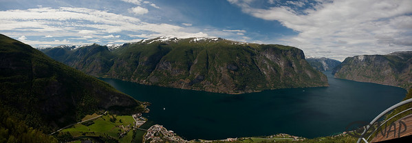 Aurlandfjord- one of the fiords in the Sognefjord system.