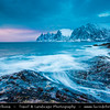 Europe - Scandinavia - Norway - North of the Arctic Circle - Troms county - Senja - Norway's second biggest island - Devil's Jaw - Oskornan mountains taken from the beach of Tungeneset