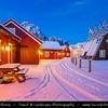 Europe - Scandinavia - Norway - North of the Arctic Circle - Nordland county - Lofoten islands archipelago - Austvågøya island - Vågan - Svolvaer - Svolvær - Chief town & port of the Lofoten island group under fresh cover of snow during winter time