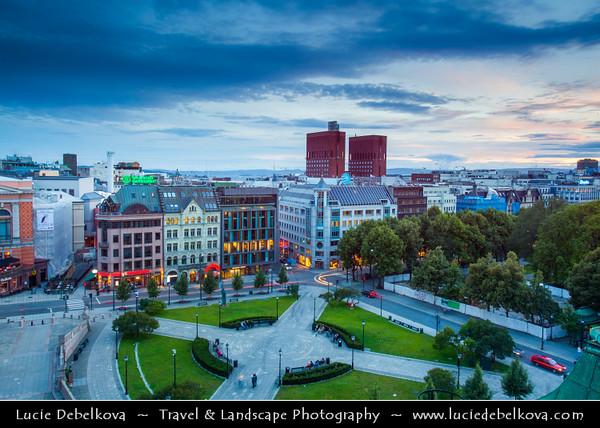 Europe - Norway - Oslo - Cityscape with Radhus - Oslo City Hall