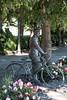 Mannen Med Sykkelen (2007) by Per Ung - Statue of Gunnar Sønsteby