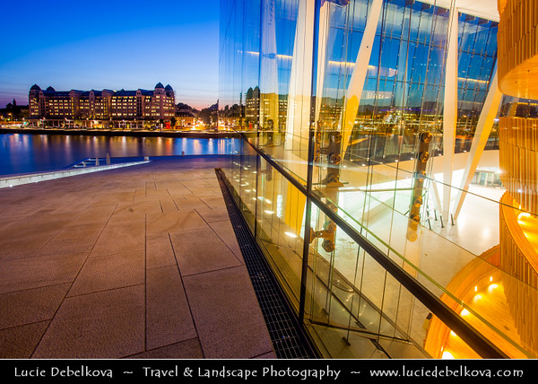 Europe - Norway - Oslo - Opera House - Operahuset - Home of Norwegian National Opera & Ballet situated in the Bjørvika neighborhood of central Oslo at the head of the Oslofjord