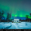 Europe - Scandinavia - Norway - North of the Arctic Circle - Troms county - Bardufoss - Aurora borealis - Northern light - Produced by solar wind particles guided by Earth's field lines to the top of the atmosphere