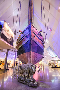 The Gjøa ship used to traverse the Northwest Passage