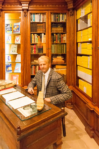 Thor Heyerdahl in his office