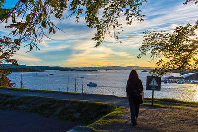 Watching the sunset over Oslofjord