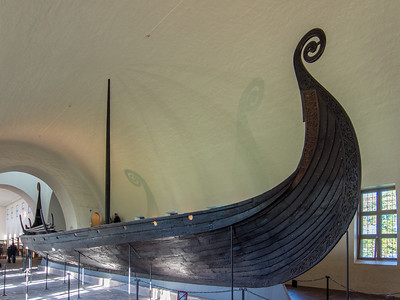 Another view of the Oseberg ship.