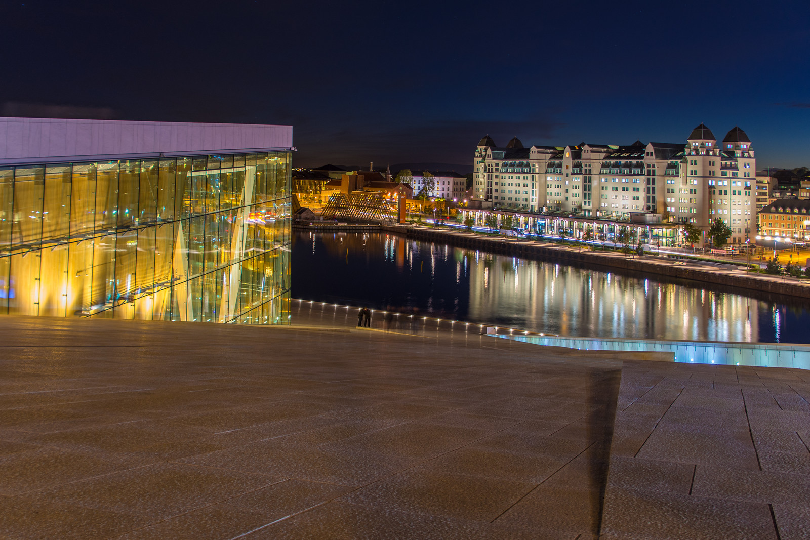 On the roof of the Oslo Opera House