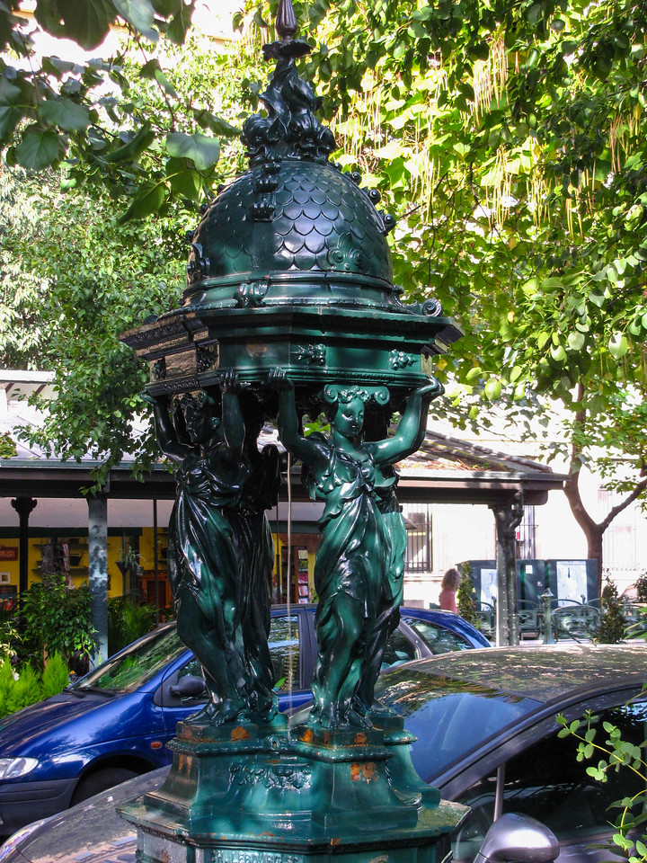 Water fountain in the Latin Quarter.