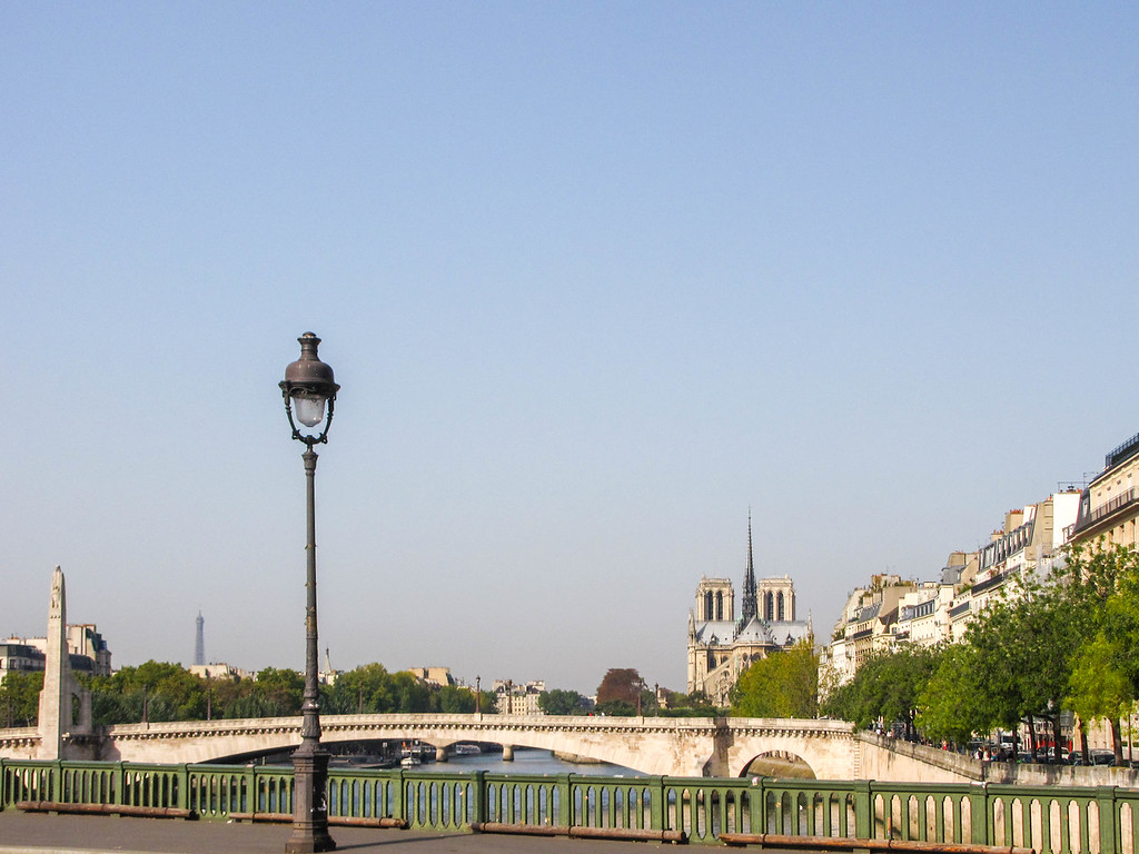 The Seine and Notre Dame in the distance.