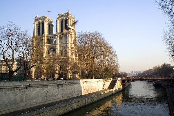 Talking about symbols, Notre-Dame has been a site for pilgrimage for years. It is a key defining examples of the style which was to become known as Ile-de-Paris Gothic, in the early nineteenth century.