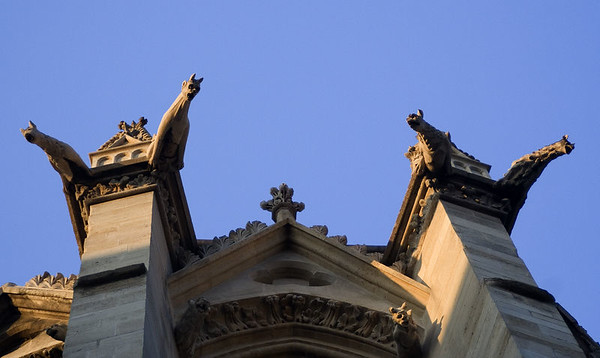 Watch out for the gargoyles near the Sainte-Chapelle!