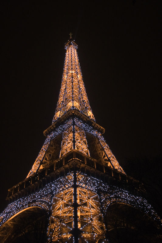 In 2000, a light show was added to the Eiffel Tower. Every 1/2 hour, the tower sparkles.