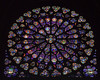 Rosace. This gigantic circular glass window depicts Jesus Christ in the center, surrounded by angels and saints.
