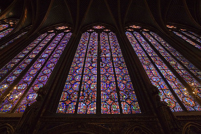 Sainte-Chapelle is renowned for its richly hued stained-glass windows, comprising 600 square meters (6,456 sq ft) in area.
