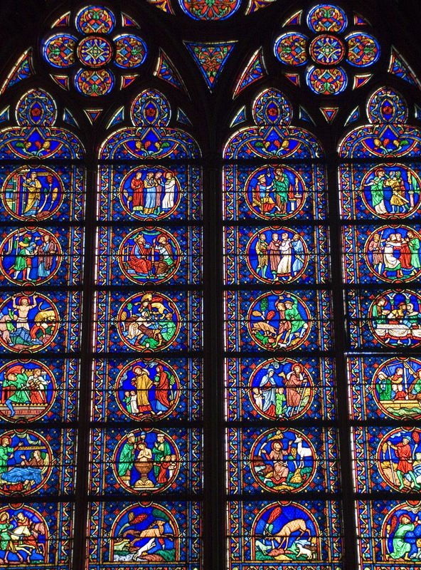Notre-Dame stainglass.