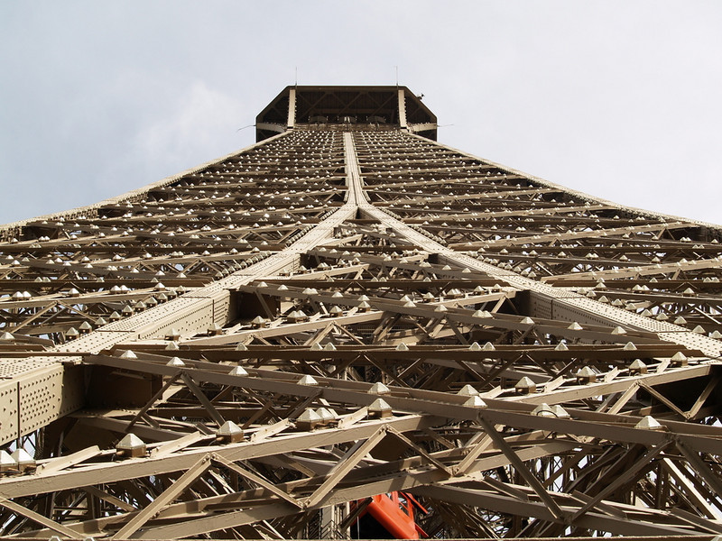 Eiffel Tower from the ground up.