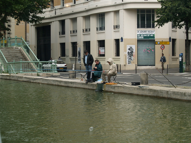 Fishing in the canal