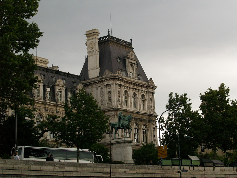 Along the Seine; part of the Louvre museum complex.