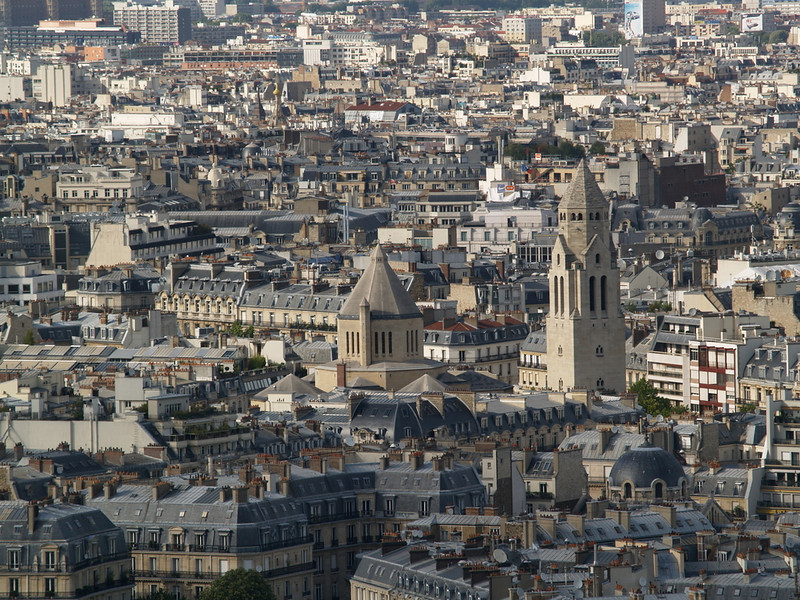 Paris cityscape from the Eiffel tower
