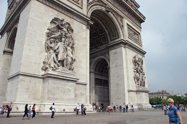 Paris part II - Arc de Triomphe, Eiffel Tower, August 2006