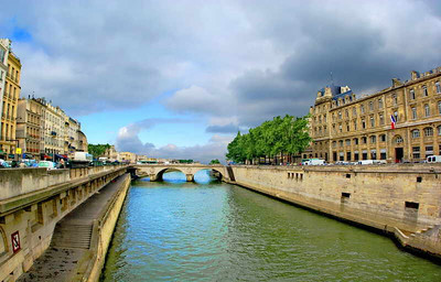 Seine River at Notre Dame, Paris, May 2007