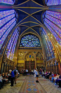 Sainte-Chapelle's Upper Chapel with Rose Window, Paris, May 2007