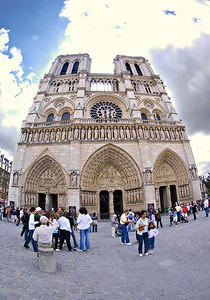 In front of Notre Dame, May 2007