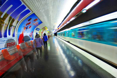 """Motion Underground"" - Metro, Paris, May 2007"