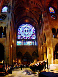 Choir recital in Notre Dame, May 2007