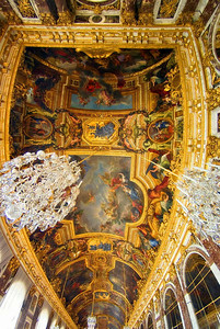 Ceiling of Hall of Mirrors, Versailles, May 2007