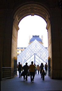 North gate to the Louvre courtyard, Paris.