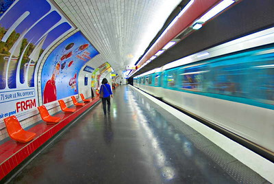 """Motion Underground - Simplified"" Metro, Paris, May 2007"