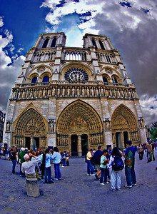 """Near Eclipse of the Sun by Notre Dame"""