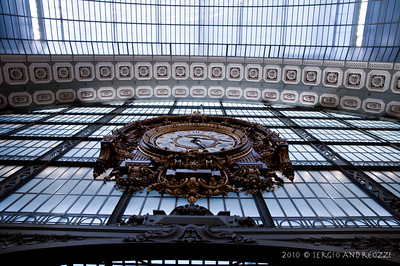 The clock in the Orsay Museum