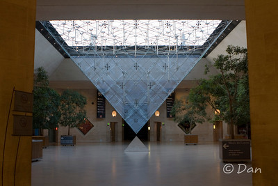 Louvre - mini pyramid in the side entrance