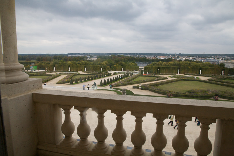View out of Chateau de Versailles